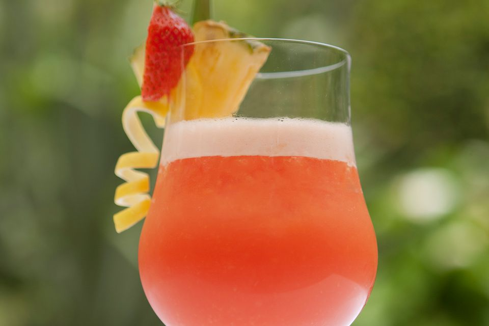 A rum runner tiki cocktail