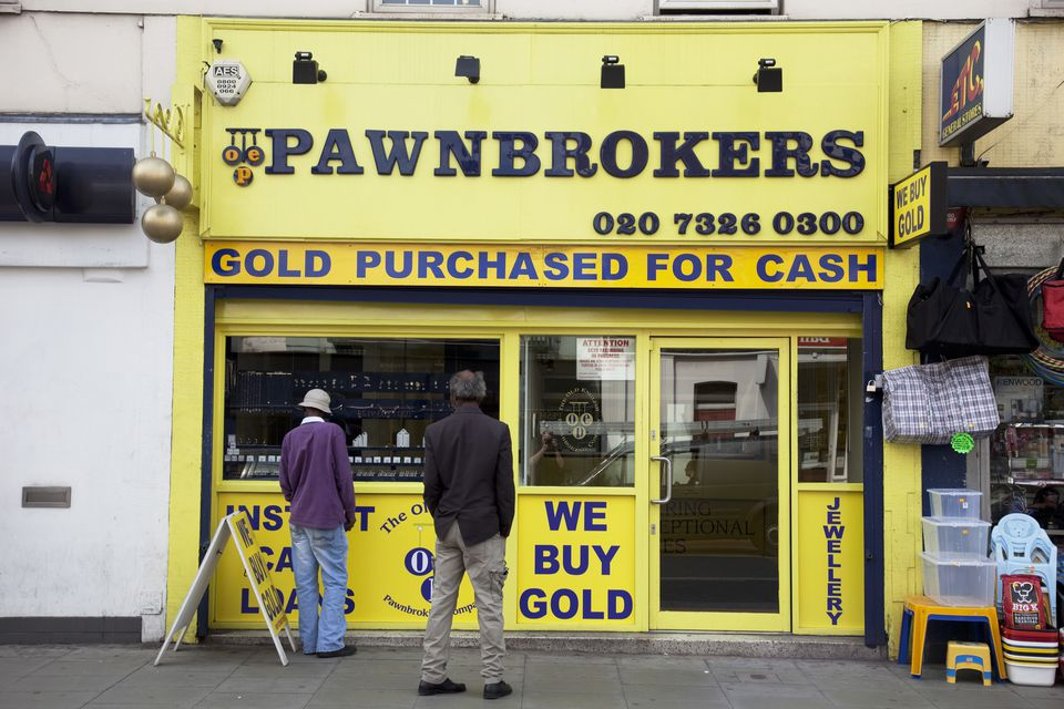 UK - London - Pawnbrokers shop on Camberwell Road