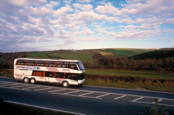 National Express Coach on a UK Intercity Route