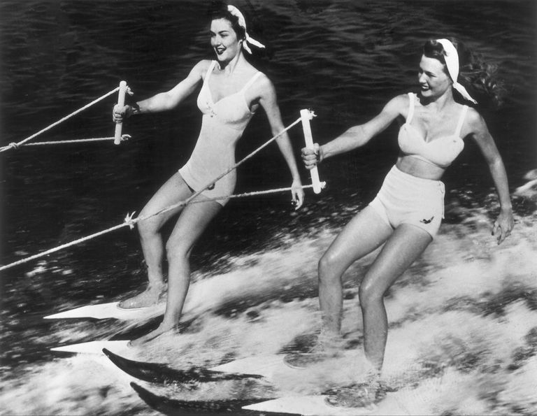 Water-Skiing In The U.S.A. Around 1950