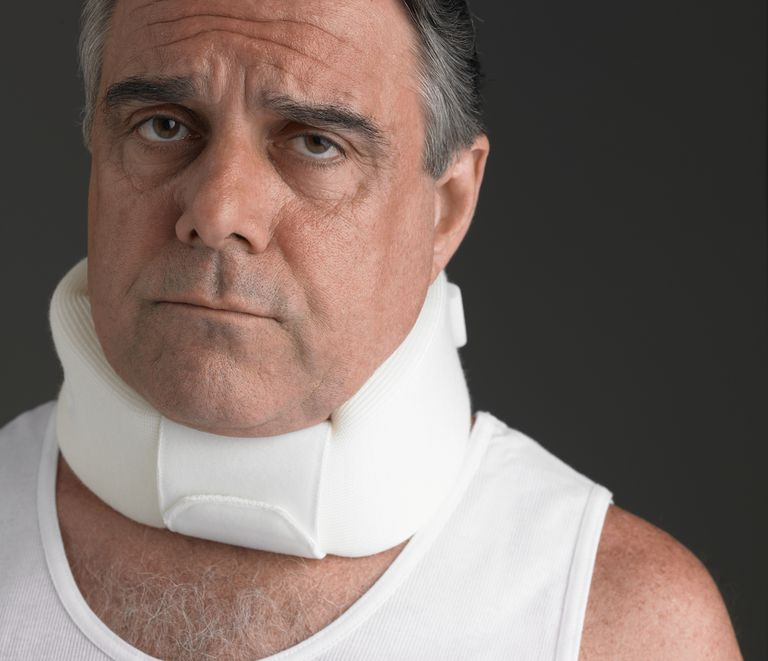 Neck collars are often worn for broken neck and other cervical issues.