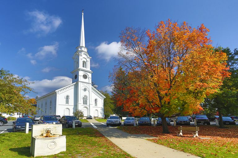 USA ,Massachusetts, Berckshire District, Lee City,Church