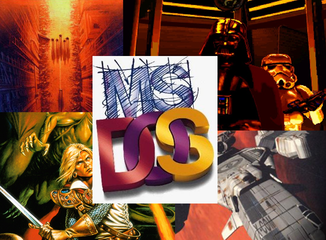 MS-DOS Logo and Game Art