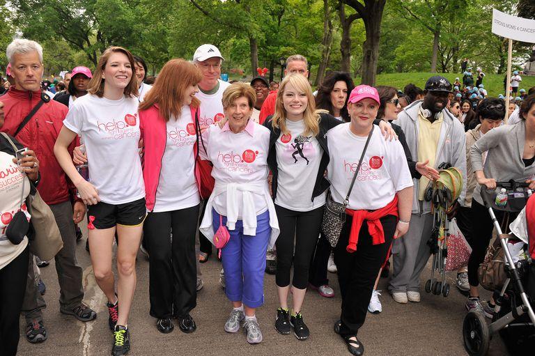 Emma Stone and Krista Stone at Revlon Run/Walk for Women NY