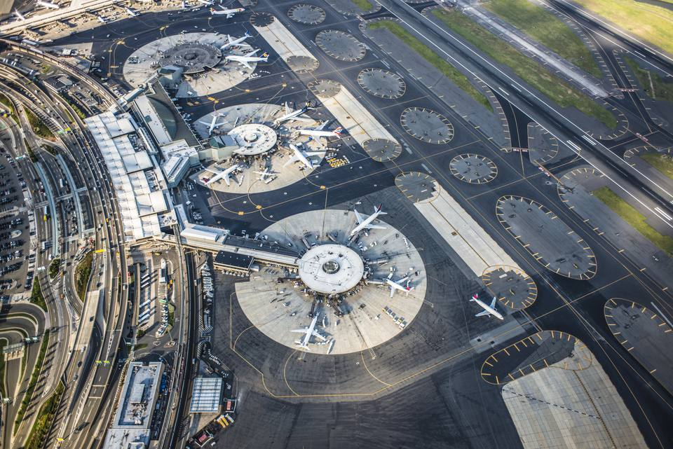 aerial view of Newark airport
