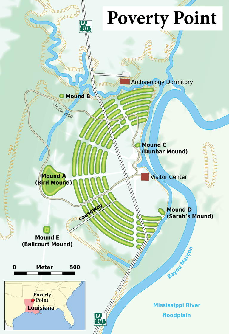 Map of Poverty Point