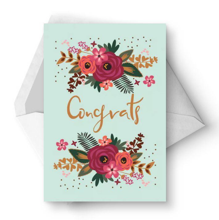 11 free printable wedding cards that say congrats