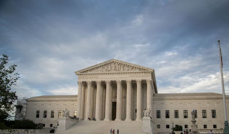 Us Supreme Court Building Against Cloudy Sky