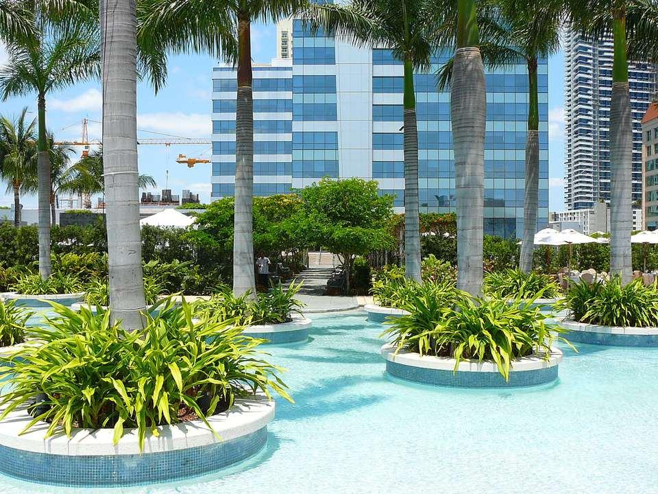 Four Seasons Hotel Miami east pool deck