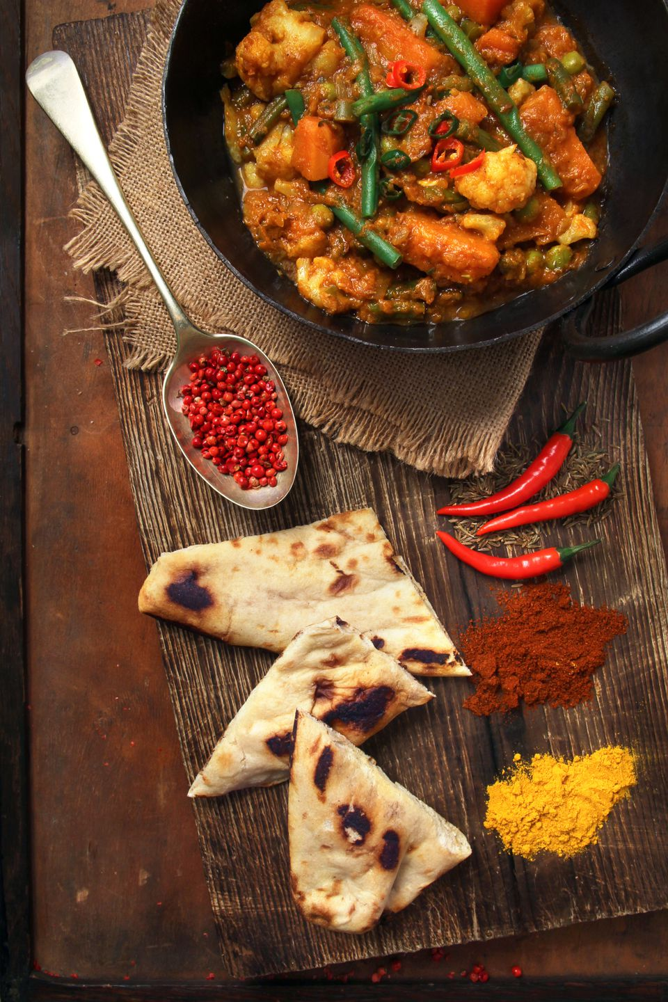 Indian Curry with Naan
