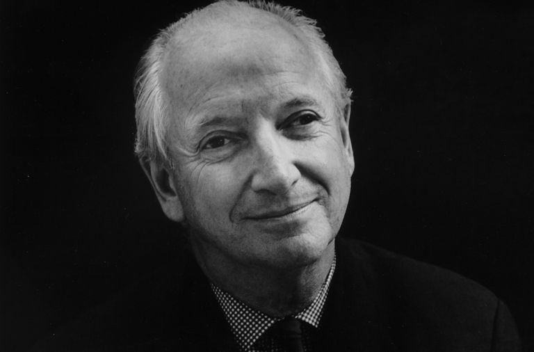 Black and white photo of architect and designer Michael Graves, New York, New York, 2000