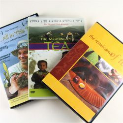 An image of three tea DVDs: All in This Tea, The Meaning of Tea and The Renaissance of Tea.