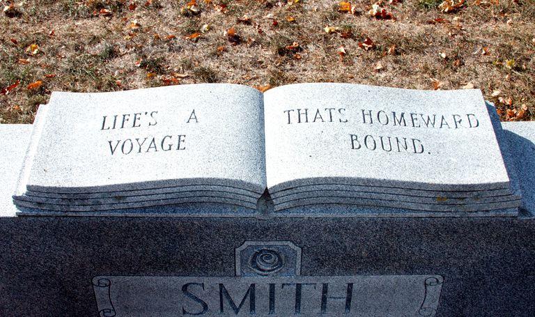 Open-book headstone