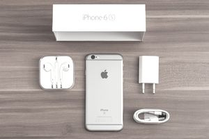 New iPhone with accessories and box