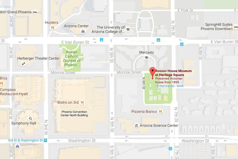 Arizona Science Center Heritage Square MapDirections - Us airways arena map