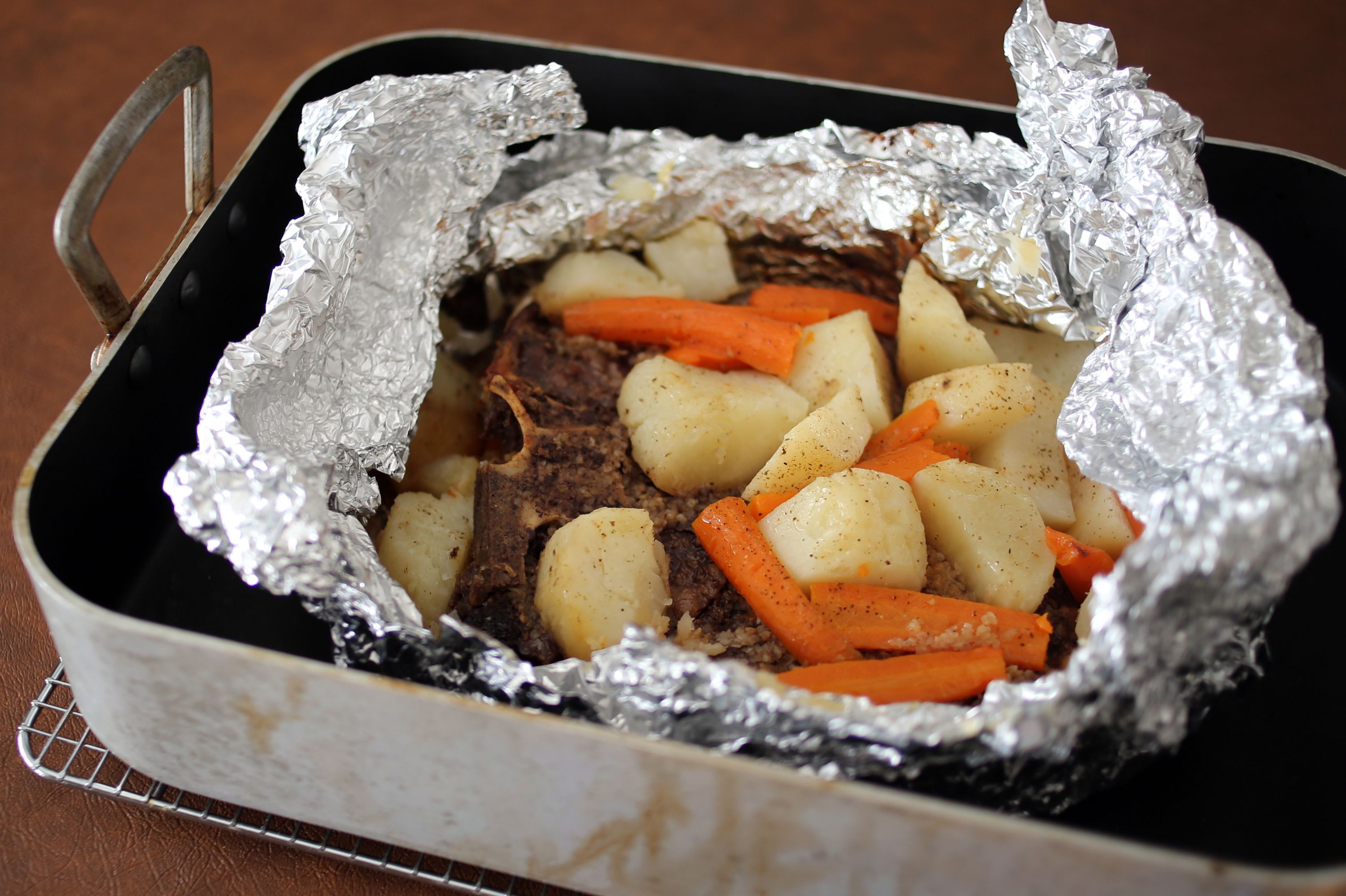 how to cook steak in the oven with foil