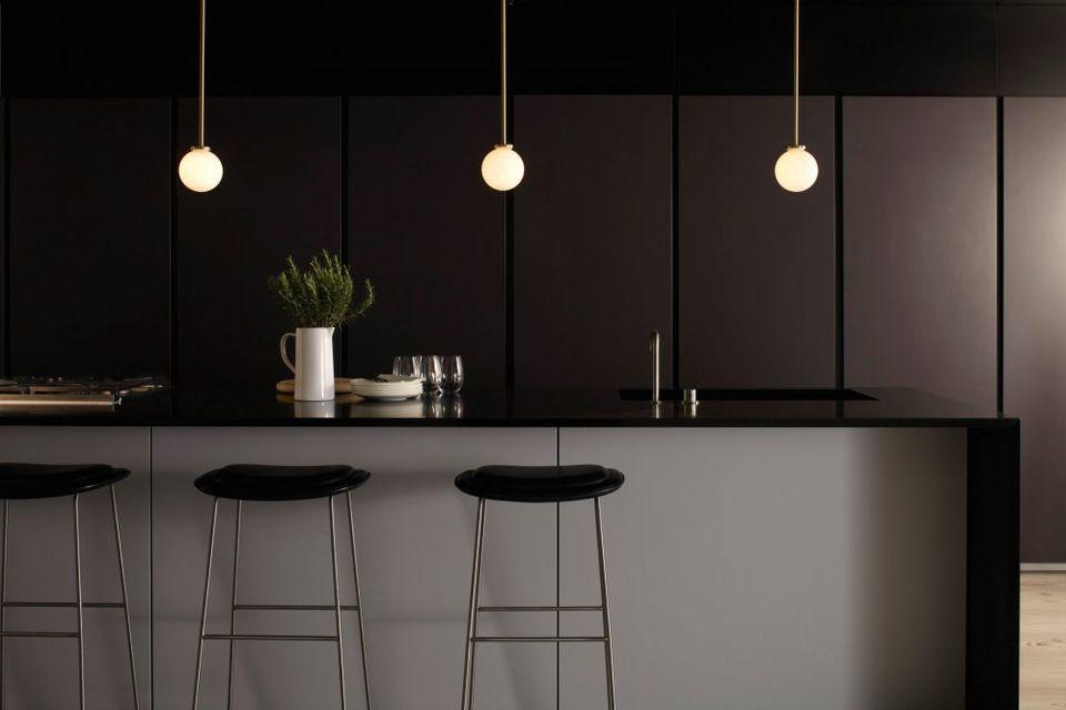 pitch black kitchen