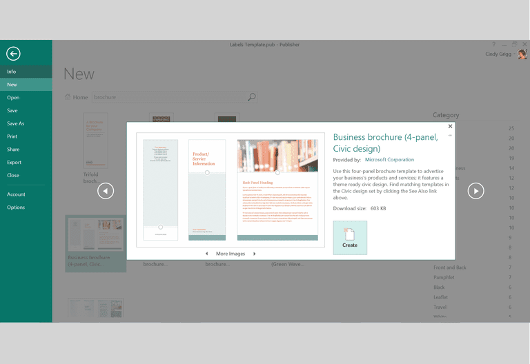 Free Design Templates And Printables For Microsoft - Brochure template publisher