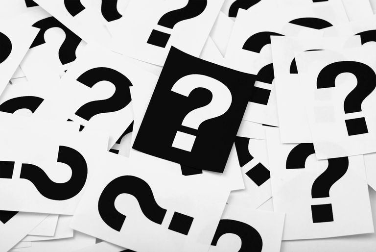 Photo of question mark cards