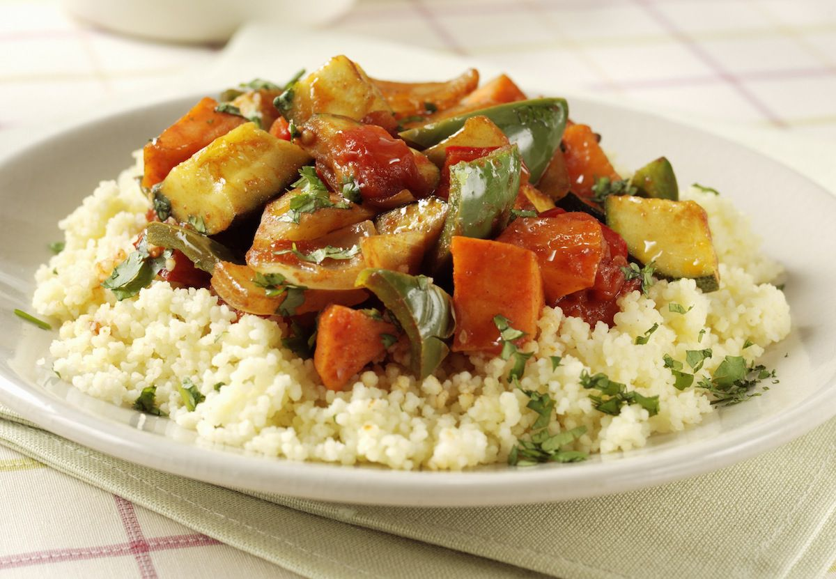 Vegetarian Vegan Roasted Vegetables With Couscous Recipe