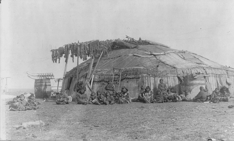 Inuit House on St. Lawrence Island, Canada, 1897