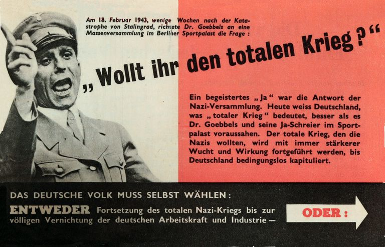 leaflet in German