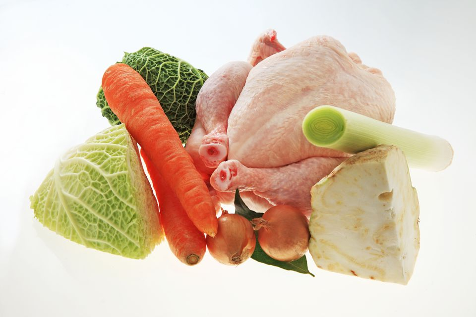 Chicken With Cabbage and Carrots