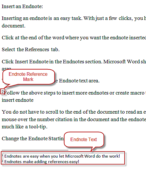 How to insert endnotes in word 2010 endnotes ccuart Choice Image