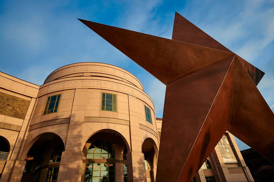 Image taken in front of the Bob Bullock Texas State History Museum
