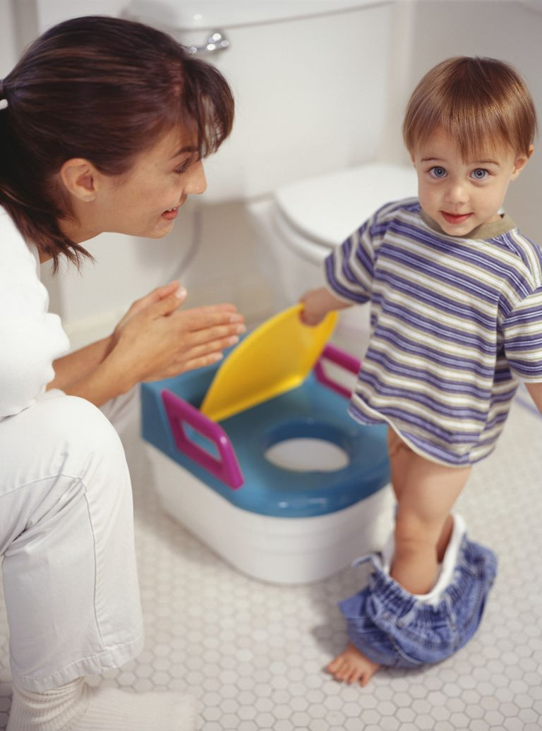 Mother potty training son