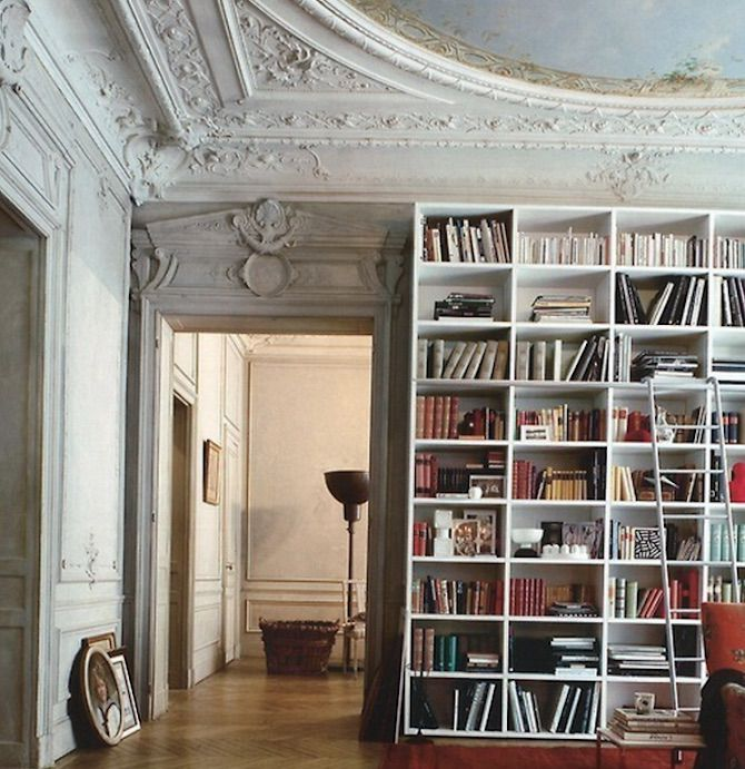 Home library in room with classic architecture Libraries  25 Stunning Design Ideas