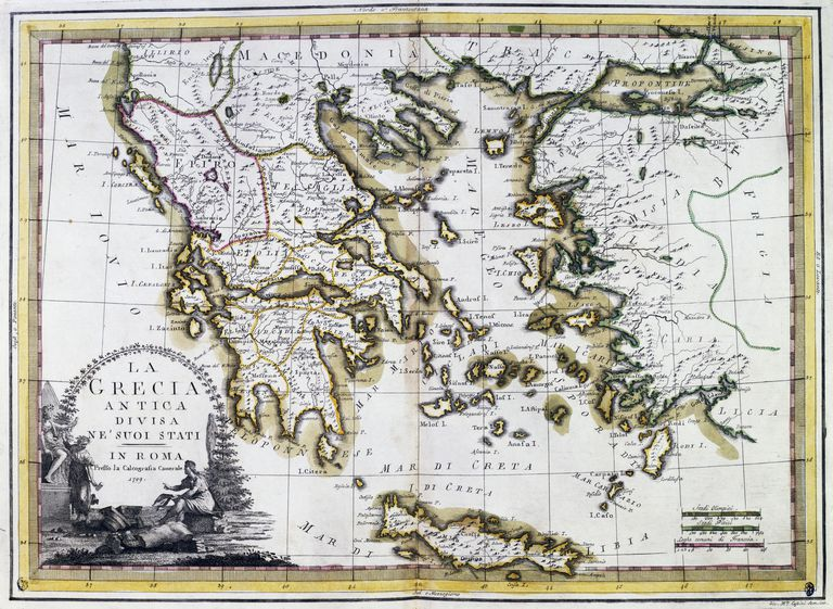 Comparing ancient greece and ancient rome ancient greece divided in its states 1799 rome italy 18th century gumiabroncs Gallery