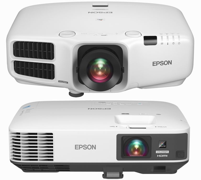 Epson Pro Cinema G6570WU (top) and 1985 (bottom) 3LCD Video Projectors