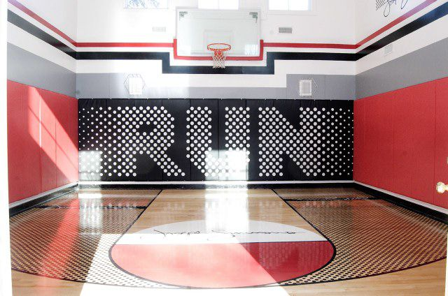 Basketball court flooring options for the home and gym for Indoor half court basketball cost
