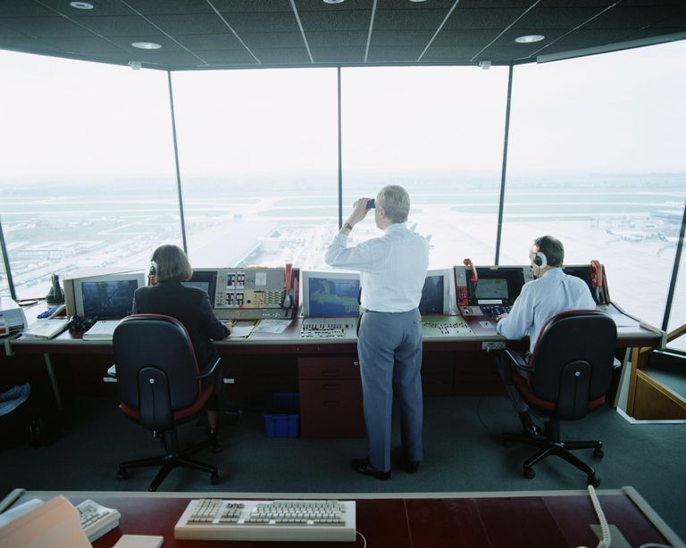 Air traffic control room Stanstead airport...