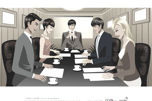 Business people in conference room