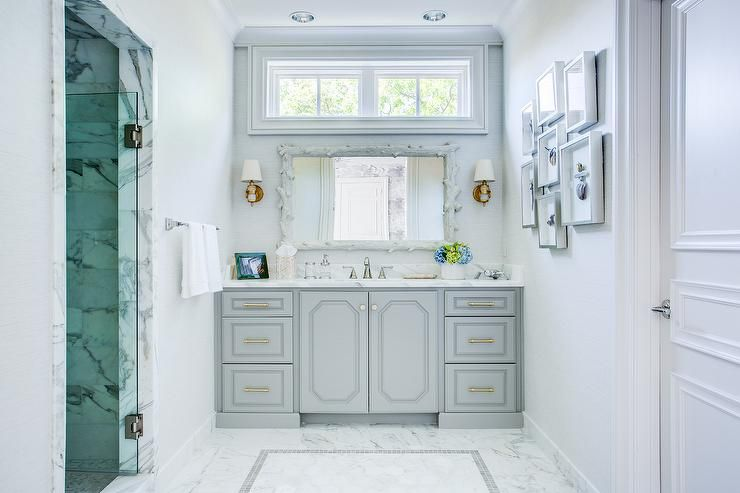 pictures of gray and white bathrooms. Ornate Gray and White Bathroom 17 Classic Bathrooms