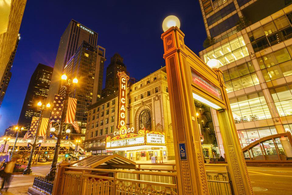 Chicago Theatre, North State Street, Chicago, Illinois, United States of America, North America