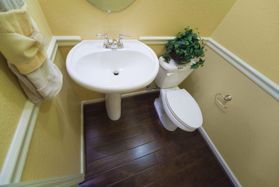 small half bathroom or powder room