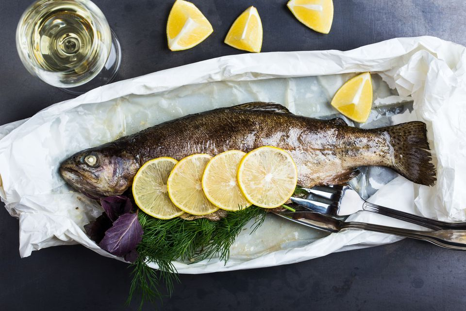 Parchment Cooked Rainbow Trout