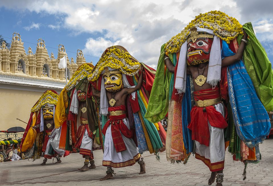 mysore dasara Dasara is observed as state festival - nadahabba, royal family performs special  pooja on the occasion of dasara during dasara, the entire city is decorated.