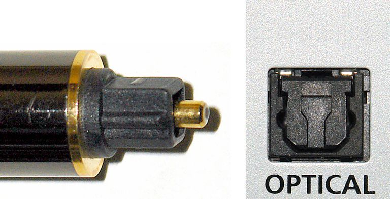 Digital Optical Cable Tip and Connection Example
