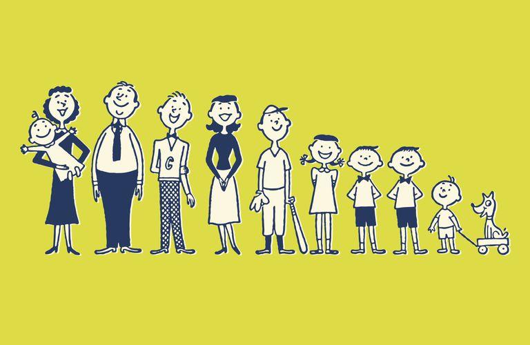 cartoon of family