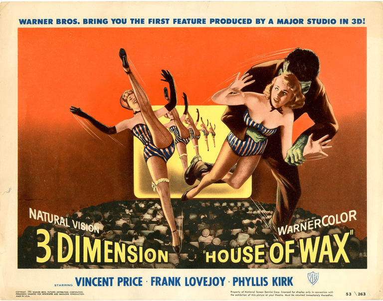 House of Wax 3-D horror movie poster