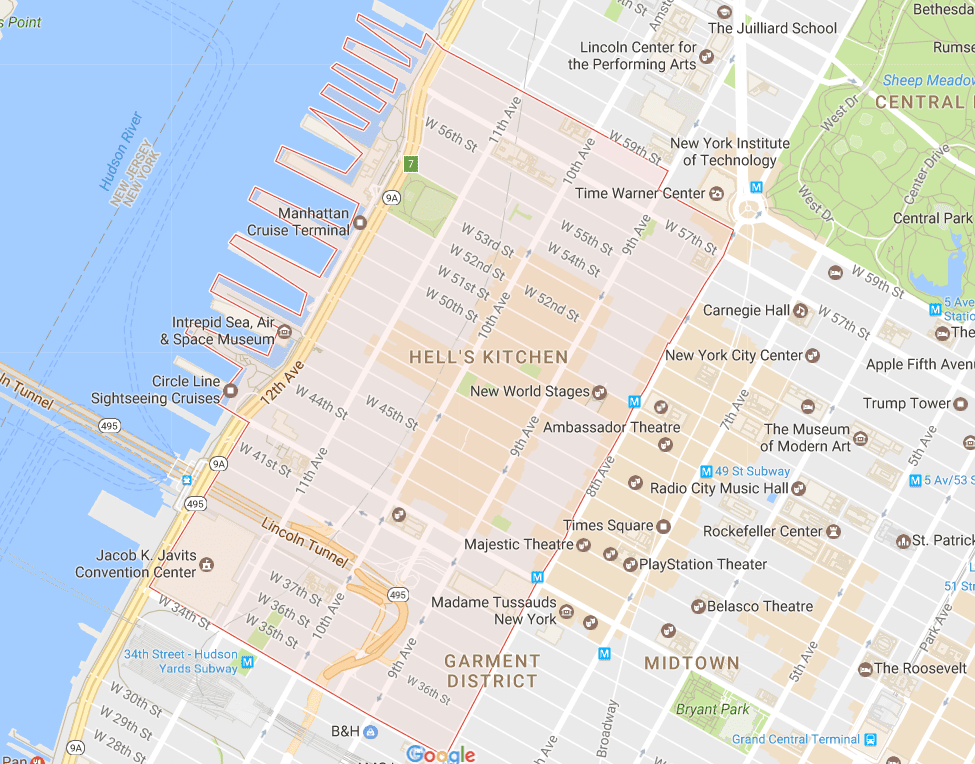 New Yorks Chinatown And Little Italy Neighborhood Map - Map new york