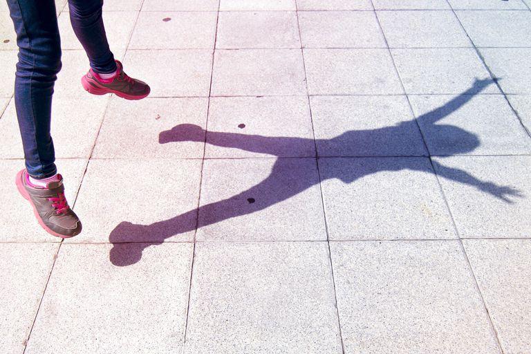 Woman doing jumping jacks