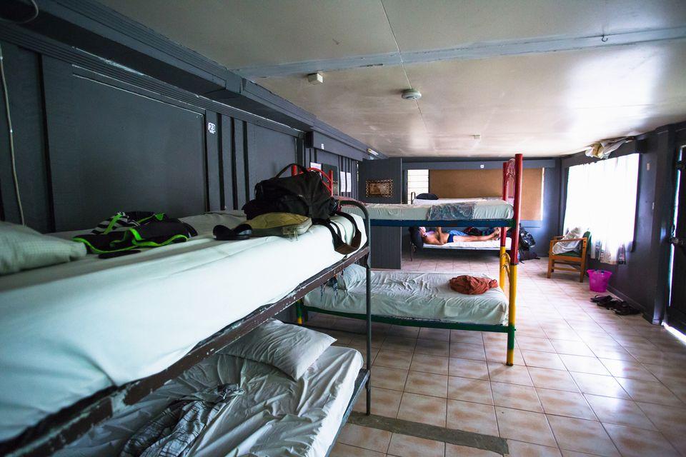 dorm room in hostel