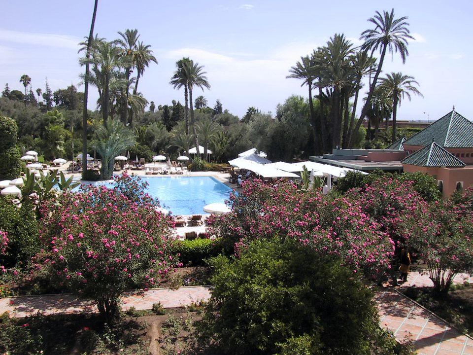 La Mamounia Hotel Swimming Pool in Marrakech, Morocco