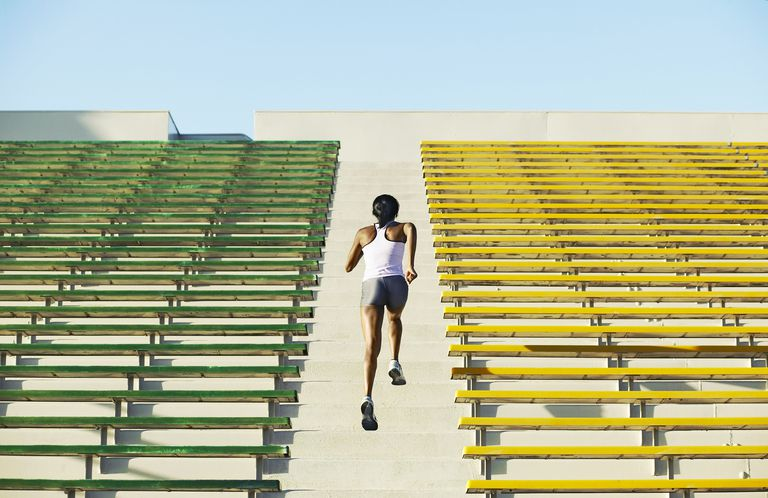 Stairs Workout on Bleachers