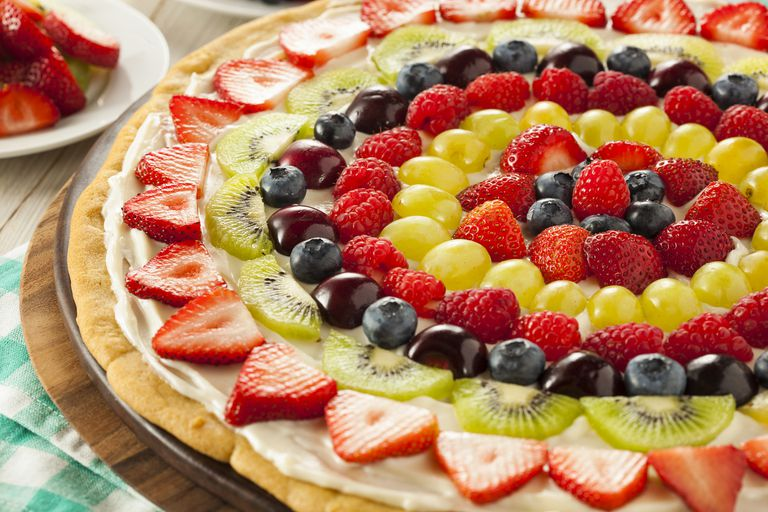 Homemade Natural Fruit Pizza